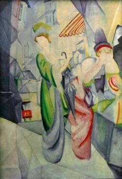 """August Macke """"Helle Frauen vor dem Hutladen"""" 77 x 110 cm"""