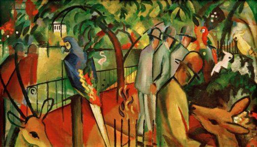 "August Macke ""Zoologischer Garten I"" 98 x 59 cm 1"