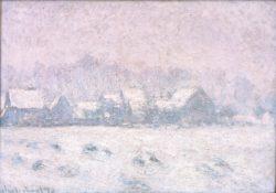 "Claude Monet ""Schnee in Giverny"" 92 x 65 cm"