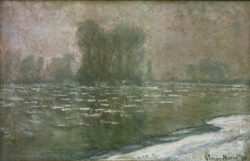 "Claude Monet ""Eisgang an einem nebligen Morgen"" 100 x 65 cm"
