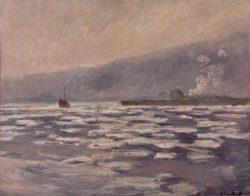 """Claude Monet """"Eisschollen bei der Schleuse von Port-Villez"""" 92 x 73 cm"""