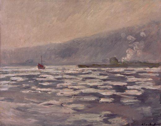"""Claude Monet """"Eisschollen bei der Schleuse von Port-Villez"""" 92 x 73 cm 1"""