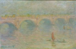 "Claude Monet ""Waterloo Bridge  Sonne"" 100 x 65 cm"
