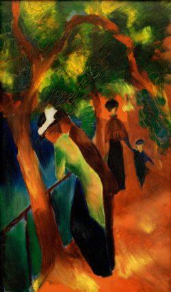 "August Macke ""Sonniger Weg"" 30 x 50 cm"