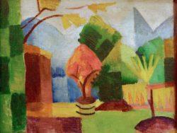 """August Macke """"Garten am Thuner See"""" 65 x 49 cm"""