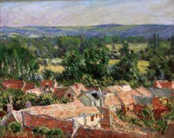 """Claude Monet """"Vue du village de Giverny"""" 81 x 65 cm"""