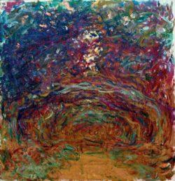 "Claude Monet ""Die Rosenallee"" 89 x 92 cm"