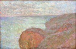 """Claude Monet """"Auf der Steilküste bei Dieppe  bewölkter Himmel"""" 100 x 65 cm"""