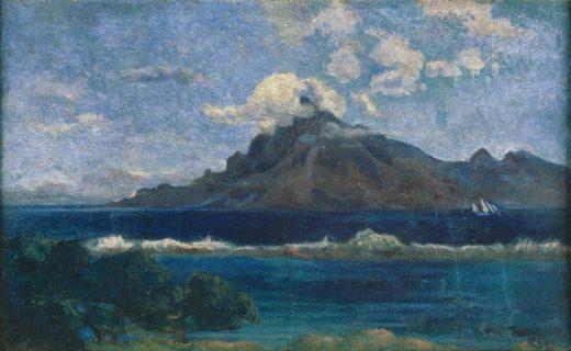 """Paul Gauguin """"Landschaft von Te Vaa""""  74 x 46 cm 1"""