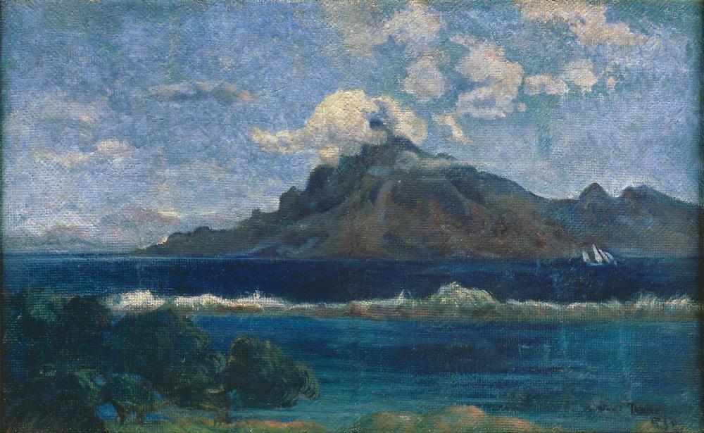 """Paul Gauguin """"Landschaft von Te Vaa""""  74 x 46 cm"""