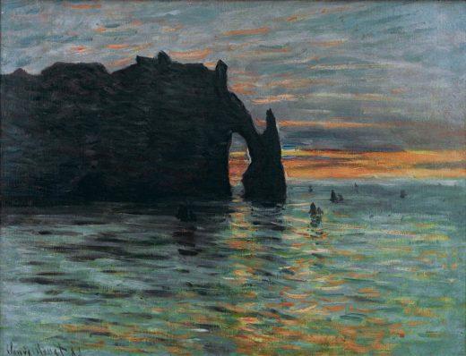 "Claude Monet ""Sonnenuntergang"" 73 x 60 cm 1"