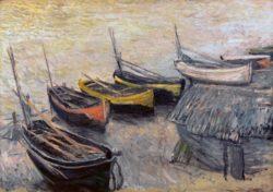 """Claude Monet """"Fischerboote am Strand"""" 92 x 65 cm"""