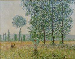 "Claude Monet ""Felder im Frühling"" 93 x 74 cm"