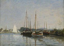 """Claude Monet """"Freizeitboote bei Argenteuil"""" 65 x 49 cm"""