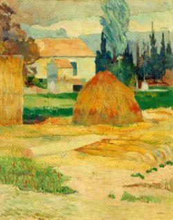 "Paul Gauguin ""Bauernhaus in Arles""  72 x 91 cm"