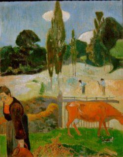 """Paul Gauguin """"Die rote Kuh""""  73 x 92 cm"""