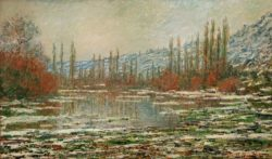 """Claude Monet """"Tauwetter in Vetheuil"""" 100 x 60 cm"""