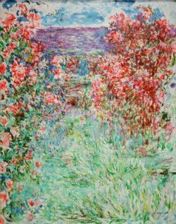 """Claude Monet """"Das Haus zwischen den Rosen"""" 73 x 92 cm"""