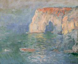 """Claude Monet """"Etretat Manneporte Reflexe auf dem Wasser"""" 81 x 65 cm"""