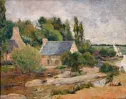 """Paul Gauguin """"Die Wäscherinnen in Pont-Aven""""  90 x 71 cm"""
