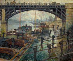 "Claude Monet ""Die Kohlenträger"" 66 x 55 cm"