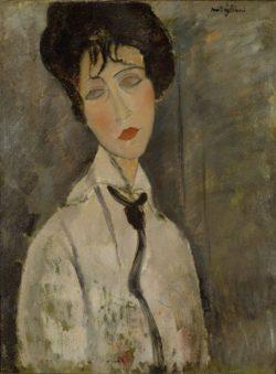 """Amedeo Modigliani """"La femme à la cravatte noir"""" 65 x 50""""cm"""