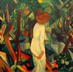 "August Macke ""Paar im Wald"" 100 x 100 cm"