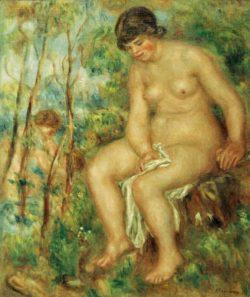 """Auguste Renoir """"Die Badende"""" 54 x 65 cm"""