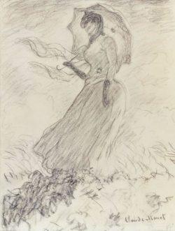"""Claude Monet """"Frau mit Sonnenschirm"""" 23 x 30 cm"""