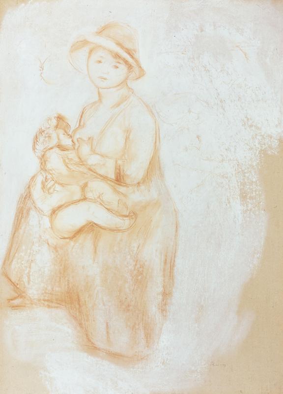 "Auguste Renoir ""Mutterglück"" 51 x 71 cm"
