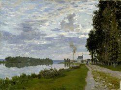 "Claude Monet ""Die Uferpromenade bei Argenteuil"" 73 x 53 cm"