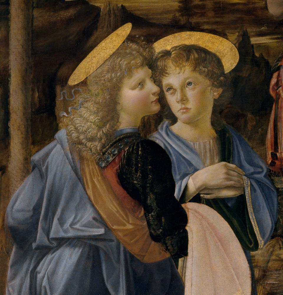 """Leonardo da Vinci """"Taufe Christi (Ausschnitt)"""" 172 x 180 cm"""