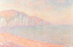 """Claude Monet """"Steilküste bei Pourville am Morgen"""" 99 x 64 cm"""