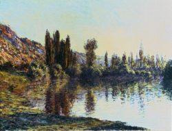 """Claude Monet """"Die Seine bei Vetheuil"""" 100 x 73 cm"""