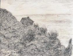 """Claude Monet """"Die Hütte der Zollwärter bei Pourville"""" 27 x 21 cm"""