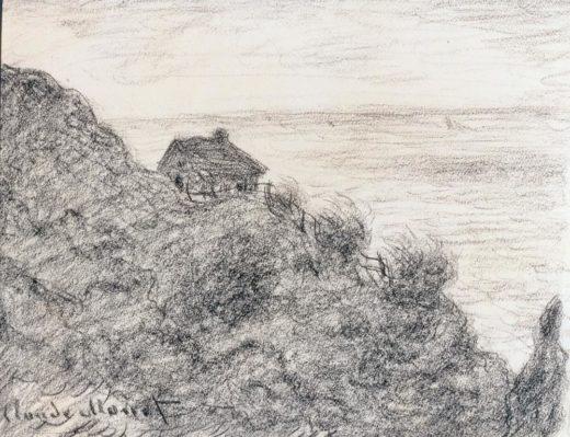 """Claude Monet """"Die Hütte der Zollwärter bei Pourville"""" 27 x 21 cm 1"""