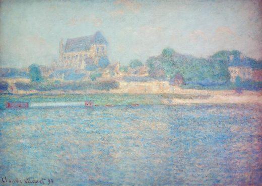 "Claude Monet ""Kirche in Vernon"" 92 x 65 cm 1"