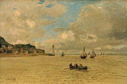 """Claude Monet """"Der Leuchtturm von Honfleur"""" 81 x 54 cm"""