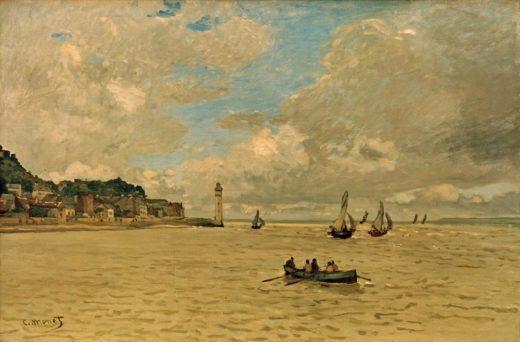 """Claude Monet """"Der Leuchtturm von Honfleur"""" 81 x 54 cm 1"""