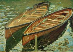 "Claude Monet ""Boote"" 46 x 33 cm"
