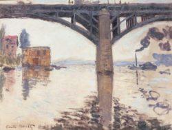 """Claude Monet """"Die Straßenbrücke bei Argenteuil"""" 65 x 50 cm"""