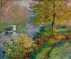 """Claude Monet """"Das Atelierboot des Künstlers"""" 65 x 54 cm"""