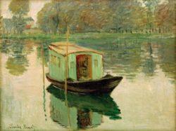 """Claude Monet """"Das Atelierboot"""" 64 x 50 cm"""