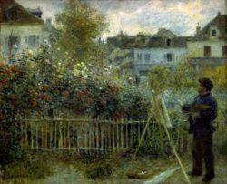"""Auguste Renoir """"Claude Monet beim Malen"""" 60 x 46 cm"""