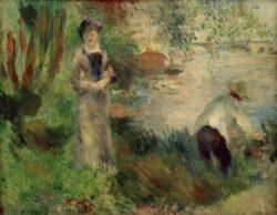 """Auguste Renoir """"Auf der Ile de Chatou"""" 55 x 46 cm"""