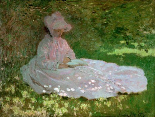 "Claude Monet ""Die Leserin"" 65 x 50 cm 1"