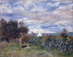 """Auguste Renoir """"Die Bucht von Algier"""" 65 x 51 cm"""