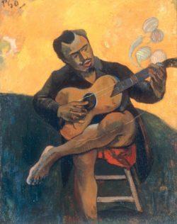 "Paul Gauguin ""Der Gitarrenspieler""  72 x 90 cm"