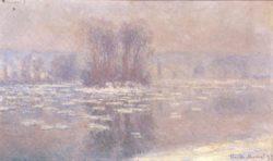 """Claude Monet """"Eisschollen auf der Seine bei Bennecourt"""" 100 x 60 cm"""