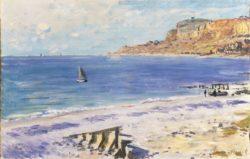 """Claude Monet """"Strand in Sainte-Adresse"""" 74 x 48 cm"""